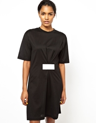 Ann Sofie Back Back By Ann Sofie Back T Shirt Dress With Velcro Detail Black