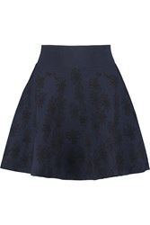 Opening Ceremony Jacquard Knit Mini Skirt Blue