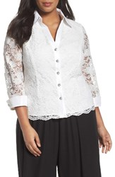 Alex Evenings Plus Size Women's Lace Blouse