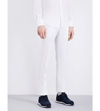 Slowear Slim Fit Tapered Linen Blend Chinos White