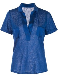 Majestic Filatures Fitted Shirt Blue