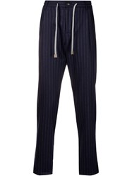 Eleventy Drawstring Pinstriped Tapered Trousers 60