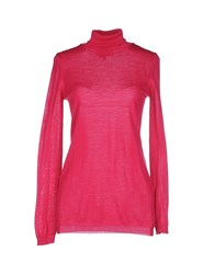 Space Style Concept Knitwear Turtlenecks Women Fuchsia