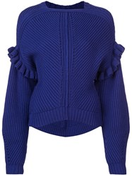 Jason Wu Structured Knit Sweater Blue