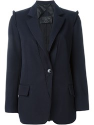 Golden Goose Deluxe Brand Single Button Blazer Blue