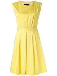 Boutique Moschino Pleated Shoulder Dress Yellow Orange