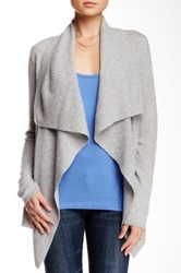 Magaschoni Cashmere Waterfall Cardigan Gray