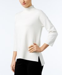 Alfani Mock Neck High Low Sweater Only At Macy's Soft White