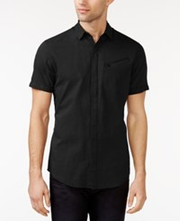 Inc International Concepts Short Sleeve Match Shirt Only At Macy's Black