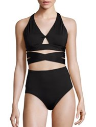 Proenza Schouler Two Piece Solid Bikini Black
