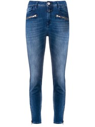 Closed Ankle Zips Skinny Jeans Blue