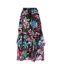 Peter Pilotto Printed Silk Skirt Multicoloured