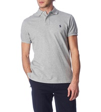 Ralph Lauren Customfit Mesh Polo Shirt Heather