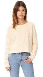 Wildfox Couture Monte Crop Sweatshirt Vanilla Latte