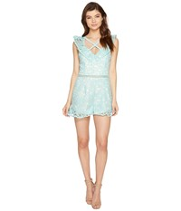 Adelyn Rae Sabina Woven Lace Sheath Dress Aqua Women's Dress Blue