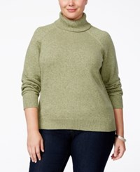 Karen Scott Plus Size Marled Turtleneck Sweater Only At Macy's Hazel Marble