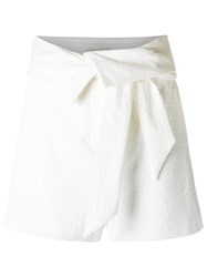 Giuliana Romanno Texturized Shorts White