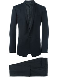 Dolce And Gabbana Two Piece Dinner Suit Blue