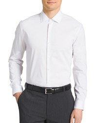 Kenneth Cole Reaction Slim Fit Cotton Blend Dress Shirt White
