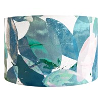 Anna Jacobs Falling Leaves In Winter Lamp Shade Blue