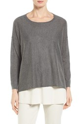Eileen Fisher Women's Tencel Lyocell Blend Ballet Neck Top