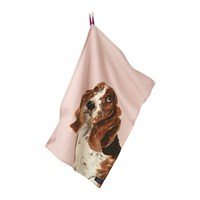 Joules Pawcasso Tea Towel Set Of 2 Lilac Dog