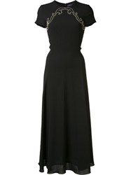 Ralph Lauren Studded Panel Mid Dress Black