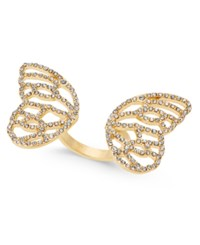 Thalia Sodi Pave Butterfly Wings Ring Created For Macy's Gold
