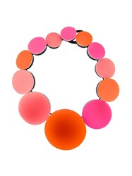 Monies Circles Necklace Pink And Purple
