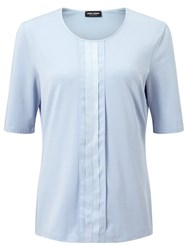 Gerry Weber Pleat Front Jersey Top Light Blue