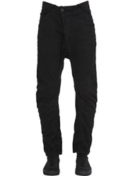 11 By Boris Bidjan Saberi Light Stretch Cotton Canvas Biker Pants