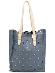 Moschino Cheap And Chic Perforated Shoulder Bag Blue