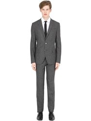 Manuel Ritz Slim Fit Checked Wool Suit