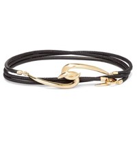 Shaun Leane Leather And Gold Vermeil Wrap Bracelet Gold