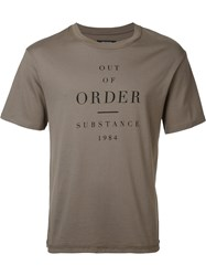 Christian Dada Out Of Order T Shirt Green