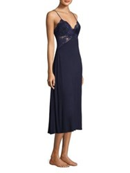 Jonquil Lace V Neck Nightgown Navy Blue