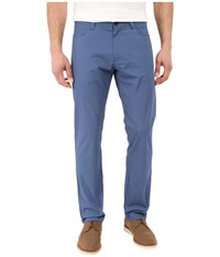 Calvin Klein Slim Fit Bowery 4 Pocket Brushed Pant Ensign Blue Men's Casual Pants