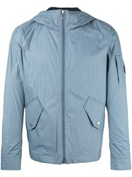 Paul Smith Ps By Flap Pocket Hooded Jacket Blue