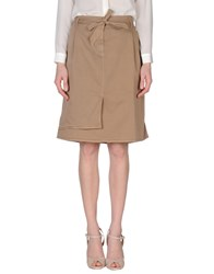 Henry Cotton's Skirts Knee Length Skirts Women Dark Blue