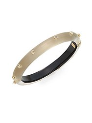 Alexis Bittar Neo Bohemian Lucite And Swarovski Crystal Bangle Bracelet Warm Grey