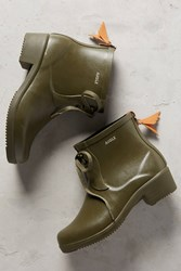 Anthropologie Aigle Miss Juliette Lace Up Rain Boots Khaki