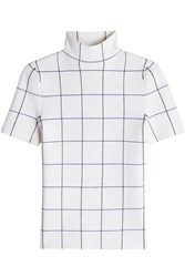 Victoria Beckham Short Sleeve Polo Top With Wool
