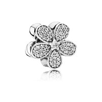 Pandora Design Daisy Pave Silver Charm With Cz