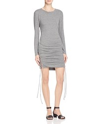 Pam And Gela Twisted Lace Up Dress Heather Grey