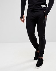 Religion Skinny Jogger With Contrast Velour Patches Black