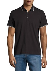 Kenneth Cole Contrast Short Sleeve Polo Black