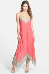 Nic Zoe 'Drifty' Colorblock Handkerchief Hem Tank Dress Pink