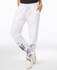 Material Girl Active Juniors' Graphic Print Sweatpants Only At Macy's Bright White
