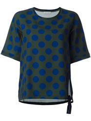 Christian Wijnants 'Tami' Polka Dots Sweatshirt Green