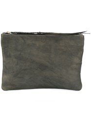 Caravana Chimalma Clutch Bag Calf Leather Grey
